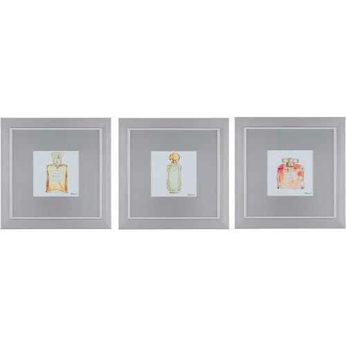 Perfume Bottles Framed Wall Art set of 3