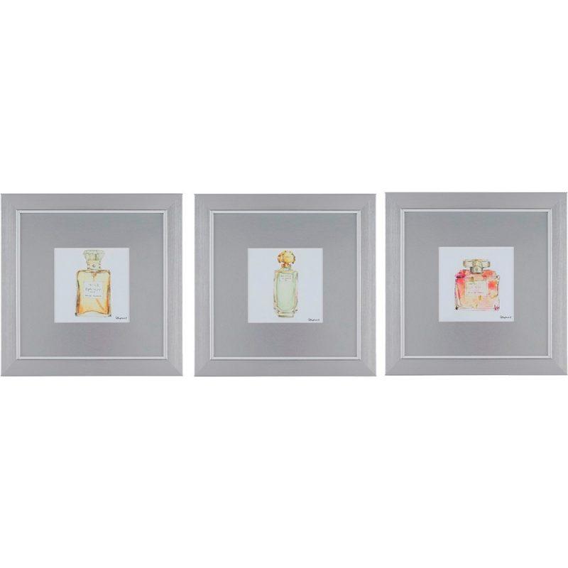 Perfume Bottles Framed Wall Art set of 3