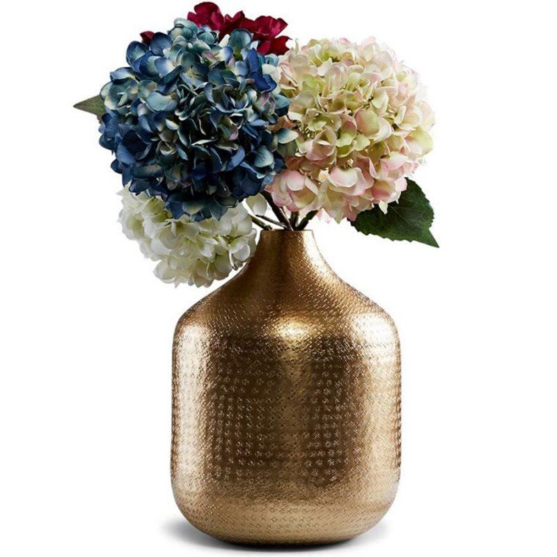 Golden Textured Antique Aluminium Vase