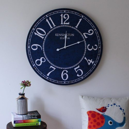 Hamptons Style Coastal Blue Clock