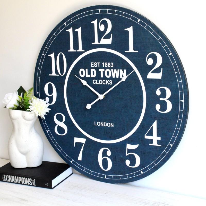 Hamptons Blue Wall Clock