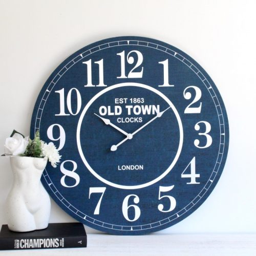 Hamptons Blue Wall Clock