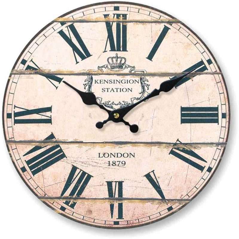 Round London Kensington station wall clock