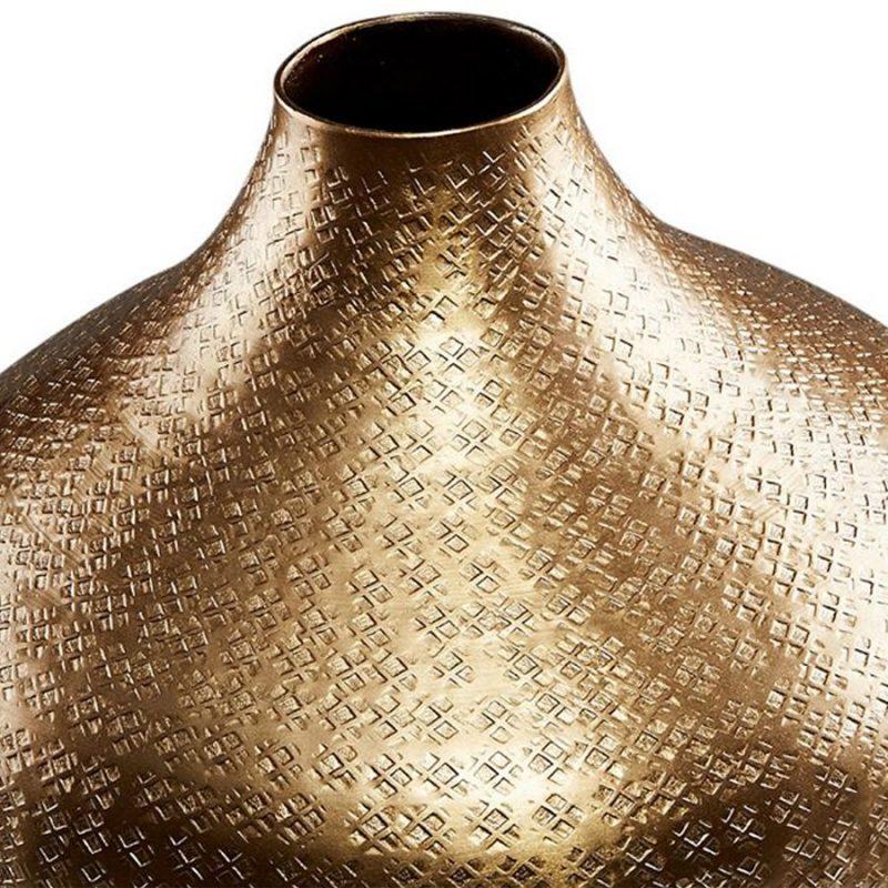 Golden Aluminium Flower Vase