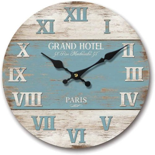 Beach Boards Blue wall clock