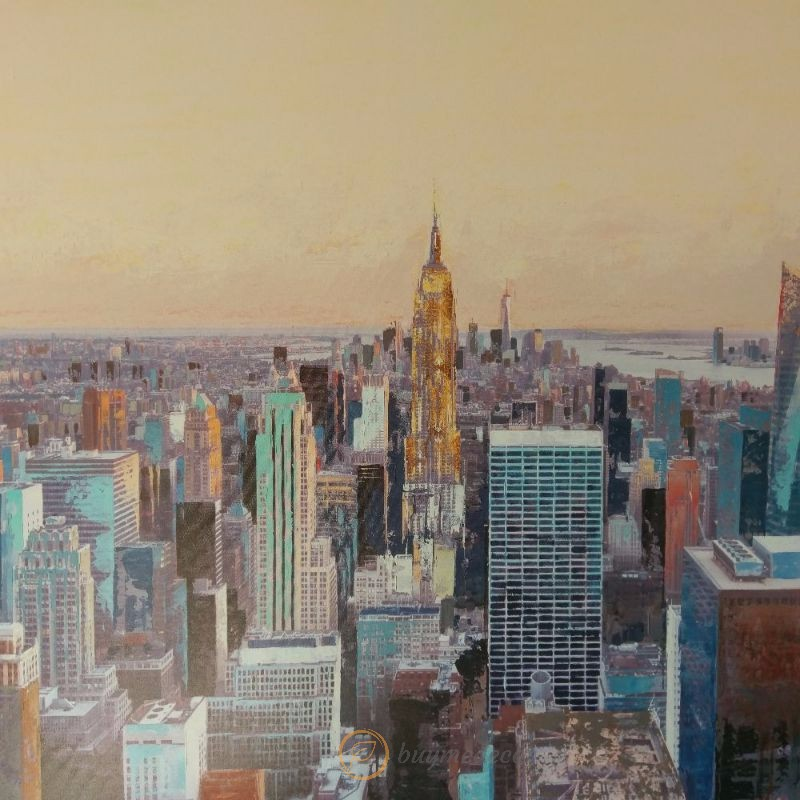 New York City Skyscrapers Canvas Print