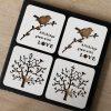 Love Birds Tree of Life Wood Coasters