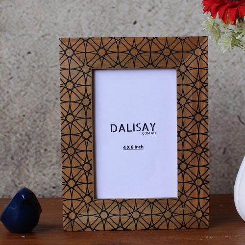 Black Diamonds Geometric Picture Frame