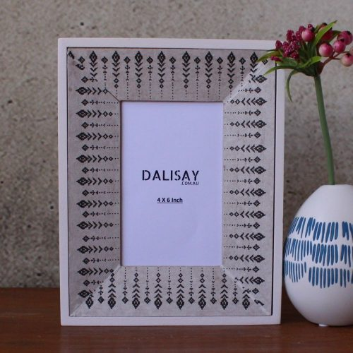 Black White Tribal Photo Frame
