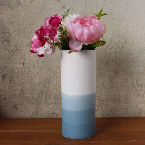 Blue Horizon Ceramic Vase