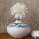 Blue Tribal Drop Ceramic Vase