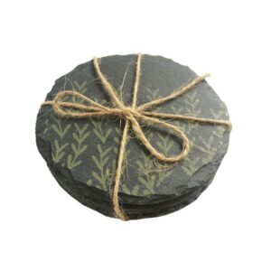 Green Tree Slate Coasters