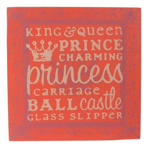 King & Queen Wooden Plaque