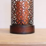Moroccan Mesh Metal Hurricane Candle Holder_3