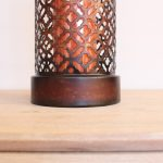 Moroccan Mesh Metal Hurricane Candle Holder_4