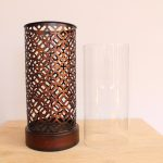 Moroccan Mesh Metal Hurricane Candle Holder_5