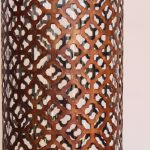 Moroccan Mesh Metal Hurricane Candle Holder_7