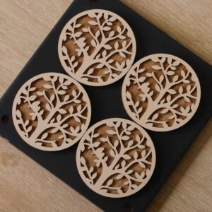 Natural White Tree Coasters