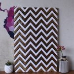 Nordic Geometric Chevron Canvas Print