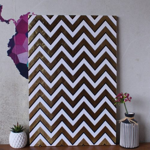 Nordic Geometric Chevron Canvas Print