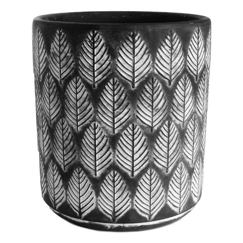Pine Leaf Black Planter