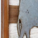Rustic Metal Cow Wooden Wall Art 40cm (3)