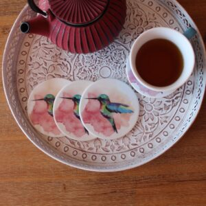 Vibrant Hummingbird Coasters