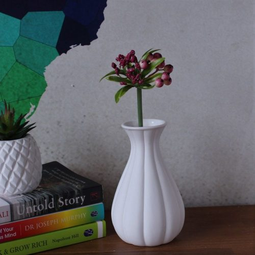 White Ceramic Bud Vase