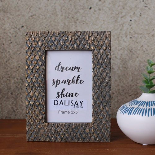 Wood Carved Gold Sparkle Photo Frame