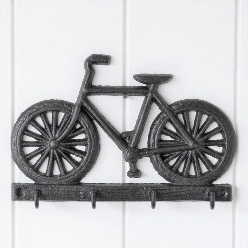4 Hooks Cast Iron Bike Key Rack Holder