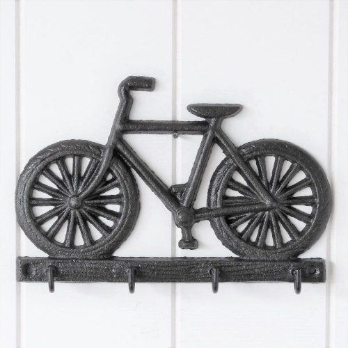 4 Hooks Cast Iron Bike Key Rack Holder