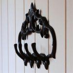 4 Hooks Cast Iron Hanging Scroll Key Rack Holder
