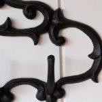 4 Hooks Cast Iron Hanging Scroll Key Rack Holder_2
