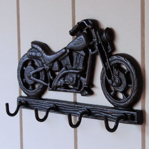 4 Hooks Cast Iron Motorbike Key Rack Holder