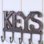 Cast Iron Key Rack Holder With 5 Hooks