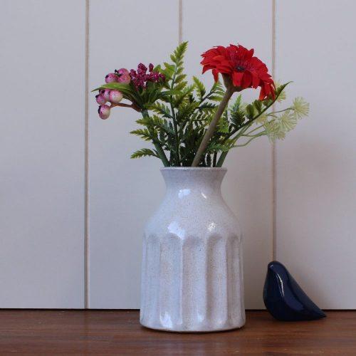Cream Speckle Decorative Ceramic Vase