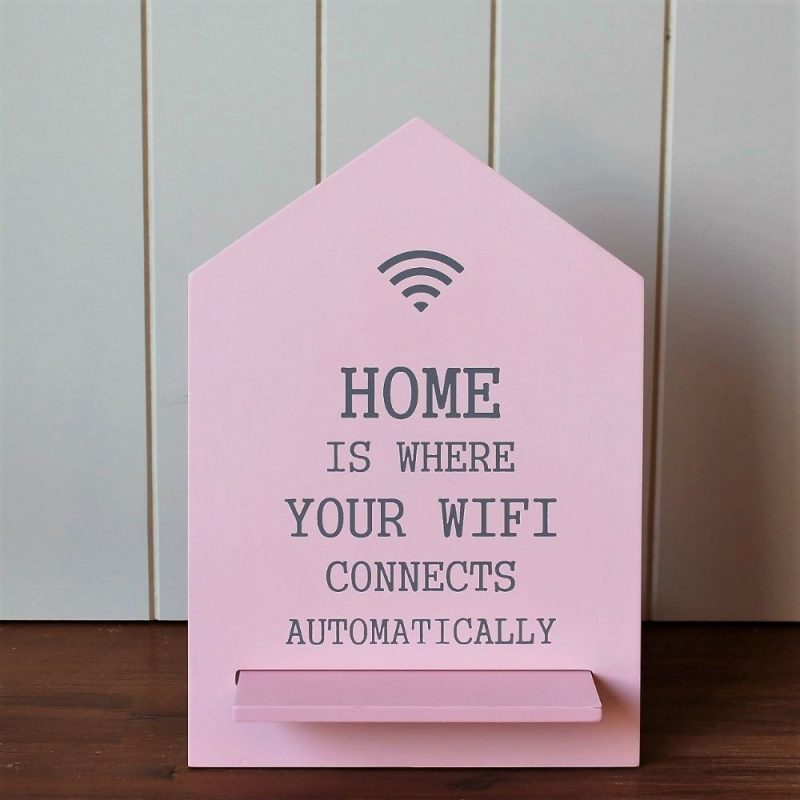Home Is Where WiFi Is Wooden Plaque Sign