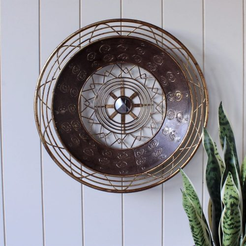 Mandala Aztec Pattern Moroccan Metal Wall Art