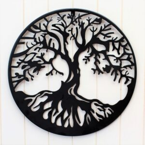 Tree of Life Black Metal Wall Art