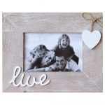 3 In 1 Live Laugh Love Wooden Multi Photo Frame_4