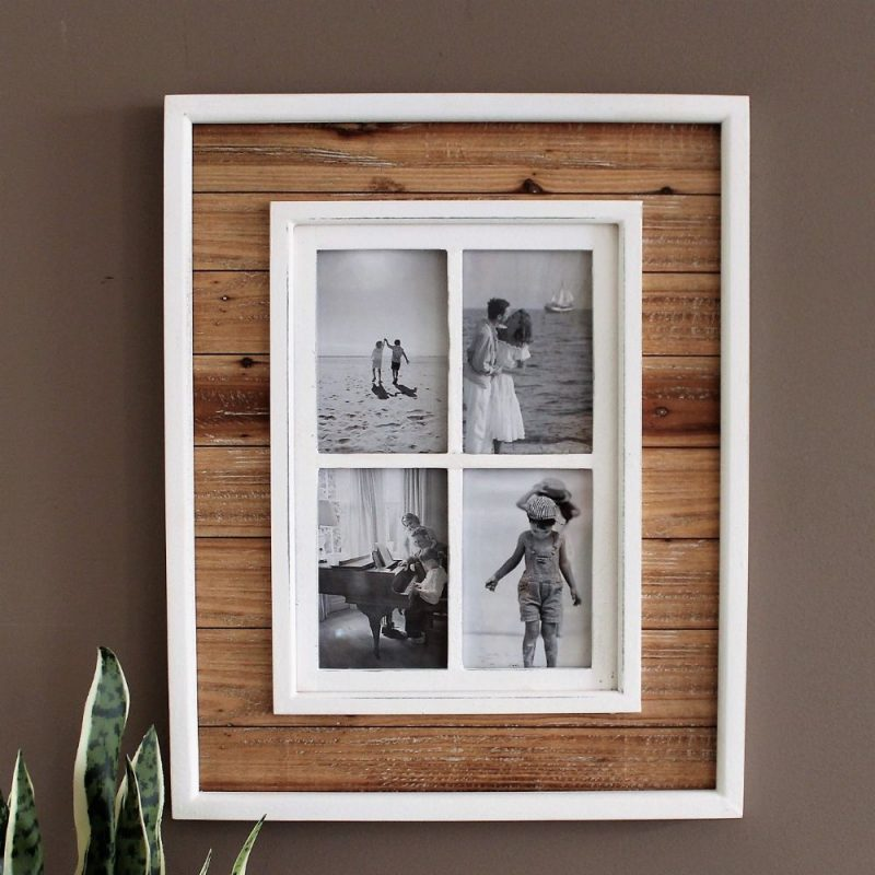 4 In 1 Collage Timber Window Photo Frame