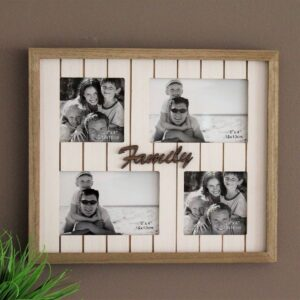 4 In 1 Multi Collage Family Wood Photo Frame