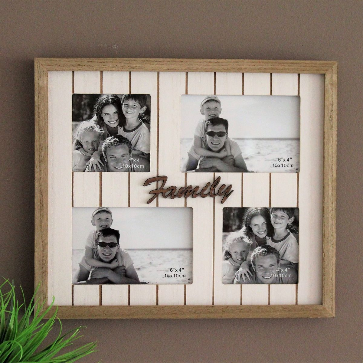 4 In 1 Multi Collage Wooden Window Photo Frame Dalisay