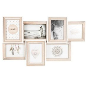 7 In 1 Hamptons Multi Collage Wood Photo Frame