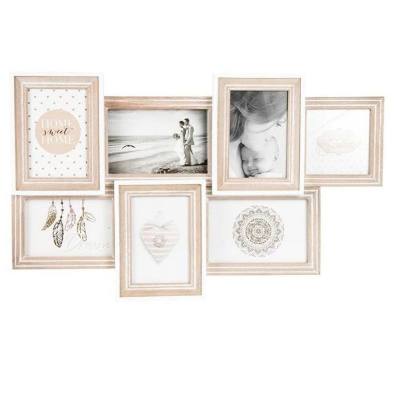 7 Window Coastal Multi Collage Wooden Photo Frame Dalisay