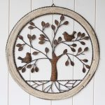 Birds On Tree Of Life Metal Wall Art