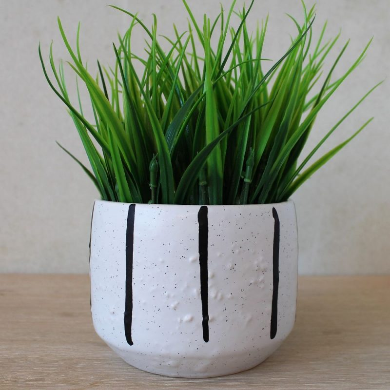 Black & White Minimalist Terracotta Pot Planter