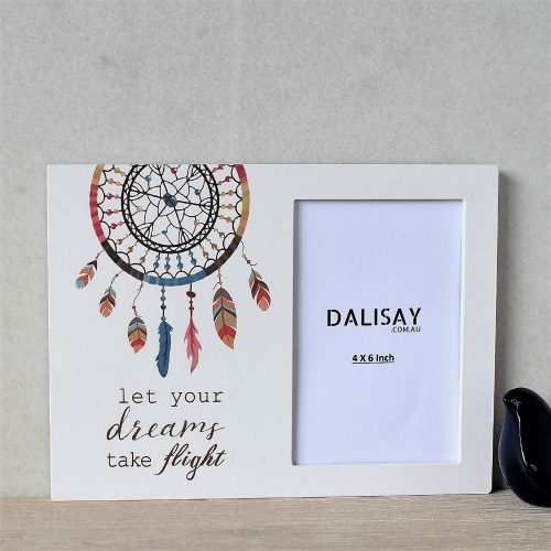 Boho Dream Catcher Wooden Photo Frame