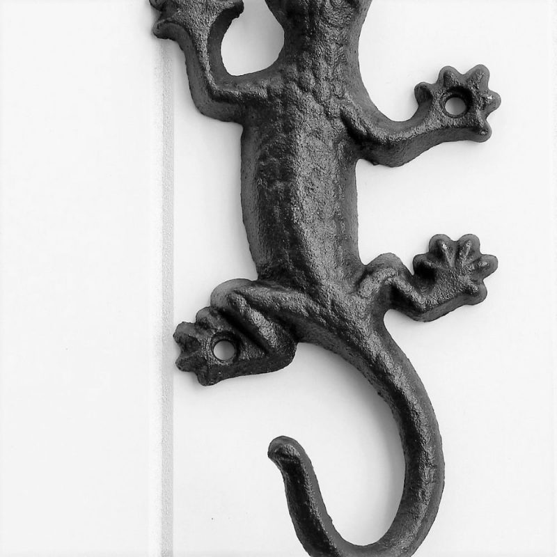 Cast Iron Gecko Wall Hook Key Holder