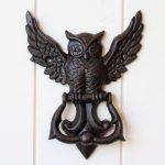 Cast Iron Rustic Owl Metal Door Bell